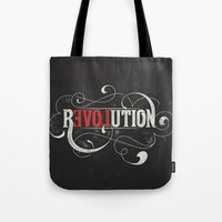 revolution Tote Bags featuring Revolution by Mobe13