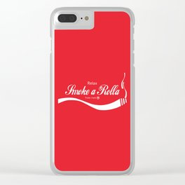 Relax - Smoke a Rolla Clear iPhone Case