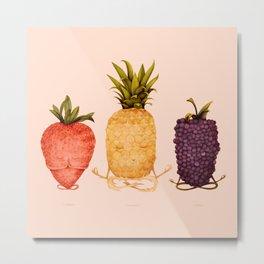 fruit yoga Metal Print