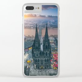 Sunset at the Rhine Clear iPhone Case