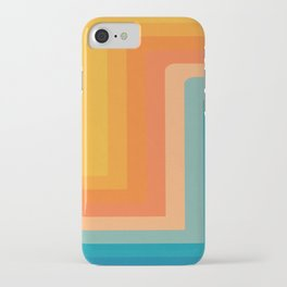 Retro 70s Color Lines iPhone Case