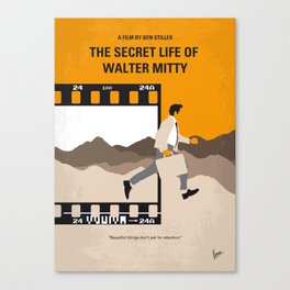 No806 My The Secret Life of Walter Mitty minimal movie poster Canvas Print