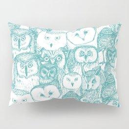 just owls teal blue Pillow Sham
