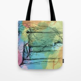 Watercolor for Elephants. Tote Bag