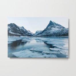 Winter in Innerdalen Metal Print