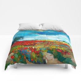 Flower fields Comforters