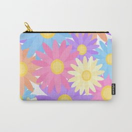 Floral Daisy Dahlia Flower Carry-All Pouch