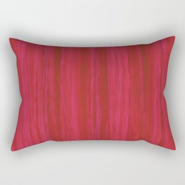 Strawberry Colored Vertical Stripes Rectangular Pillow