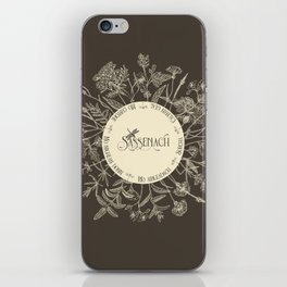 Dear Sassenach in Sepia iPhone Skin