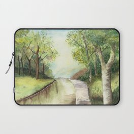 Trees by the canal Laptop Sleeve