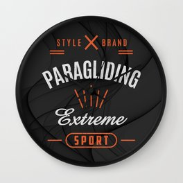 Paragliding Extreme Sport Wall Clock