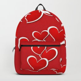 LOVE Red Hearts Backpack