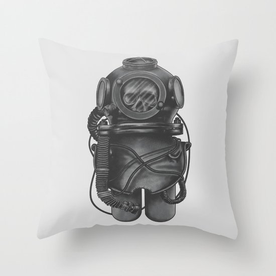 The Dead Diver Throw Pillow
