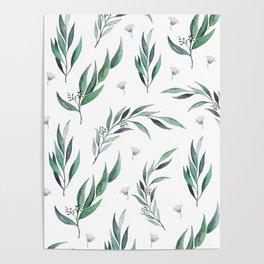 Native Gum Leaves Poster