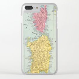 Vintage Corsica and Sardinia Map (1901) Clear iPhone Case