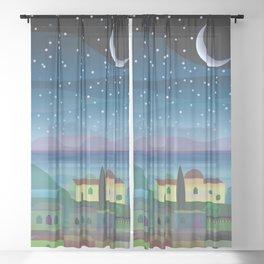 Island Moon Sheer Curtain