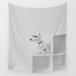 Puppy watching Wall Tapestry