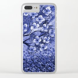 Blue Tree Clear iPhone Case