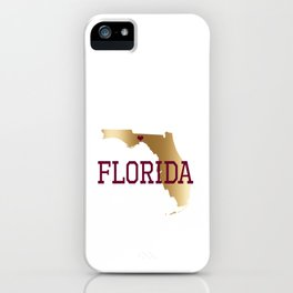 Florida Gold and Garnet with State Capital Typography iPhone Case