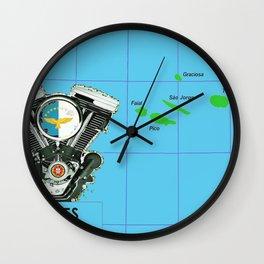 Azores Motorcycle Islanders. Wall Clock