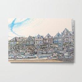 Painted Ladies houses san francisco artwork Metal Print