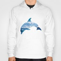 dolphin Hoodies featuring Dolphin by Inna Trifonova