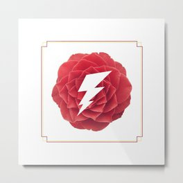 Camellia Bolt Metal Print