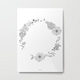 A circle of flowers Metal Print