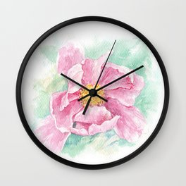 Pink magnolia flower Wall Clock