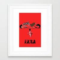 akira Framed Art Prints featuring Akira by Pocketmoon designs
