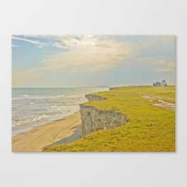 Lonely Beach with Barranco Canvas Print
