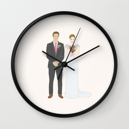 This $75 Custom Portrait Is the Most Thoughtful Wedding Gift Ever Wall Clock