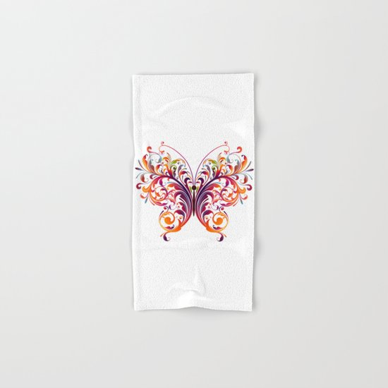 Multicolor Butterfly Hand & Bath Towel