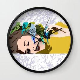 Barbarella & The Birds Wall Clock