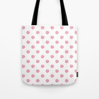 polka dot Tote Bags featuring Polka Dot by Ryan Winters