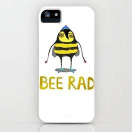 Bee. bee art, bee illustration, nature, illustration, wall, kids, skater, skateboarding, rad, iPhone Case