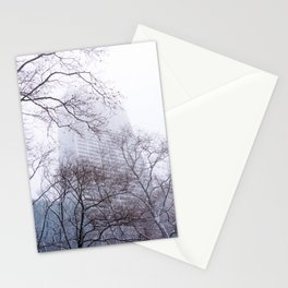 Snow in the Bryant Park Sky, NYC Stationery Cards