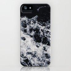 OCEAN - WAVES - SEA - ROCKS - DARK - WATER iPhone SE Slim Case