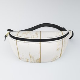 Rustic wooden texture. White and gold antique wood. Fanny Pack