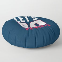 Let's go patriots, New England Floor Pillow