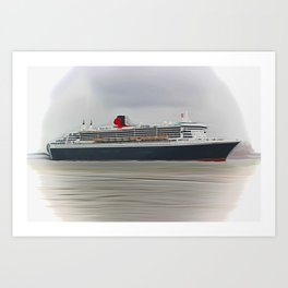 Queen Mary 2 Art Print