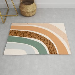 Patterned Rainbow Rug