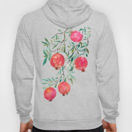 red pomegranate watercolor Hoody