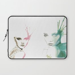 Two-Faced Faces Laptop Sleeve