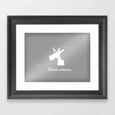 iUnicorn Framed Art Print