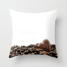 Chocolate + Coffee Throw Pillow