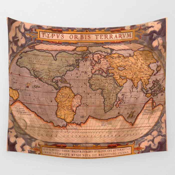 Typus orbis terrarum old world map wall tapestry by skyeryanevans typus orbis terrarum old world map wall tapestry gumiabroncs Images