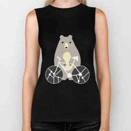 Bear with bike Biker Tank