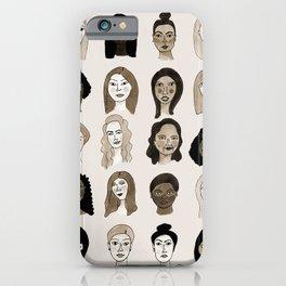 Women faces in sepia palette iPhone Case
