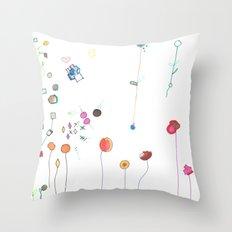 Floral Fall Throw Pillow